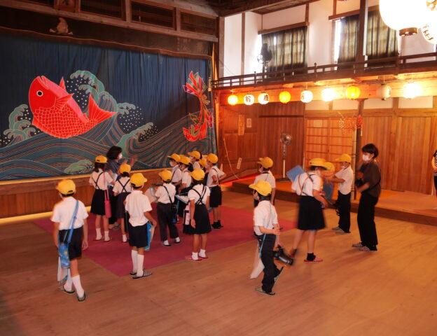 3/15(金)上下北小学校3年生<もりあげ隊>の皆さん、翁座訪問。
